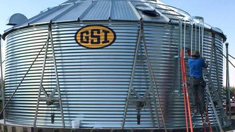Country Grain Systems Grain Bin BUild