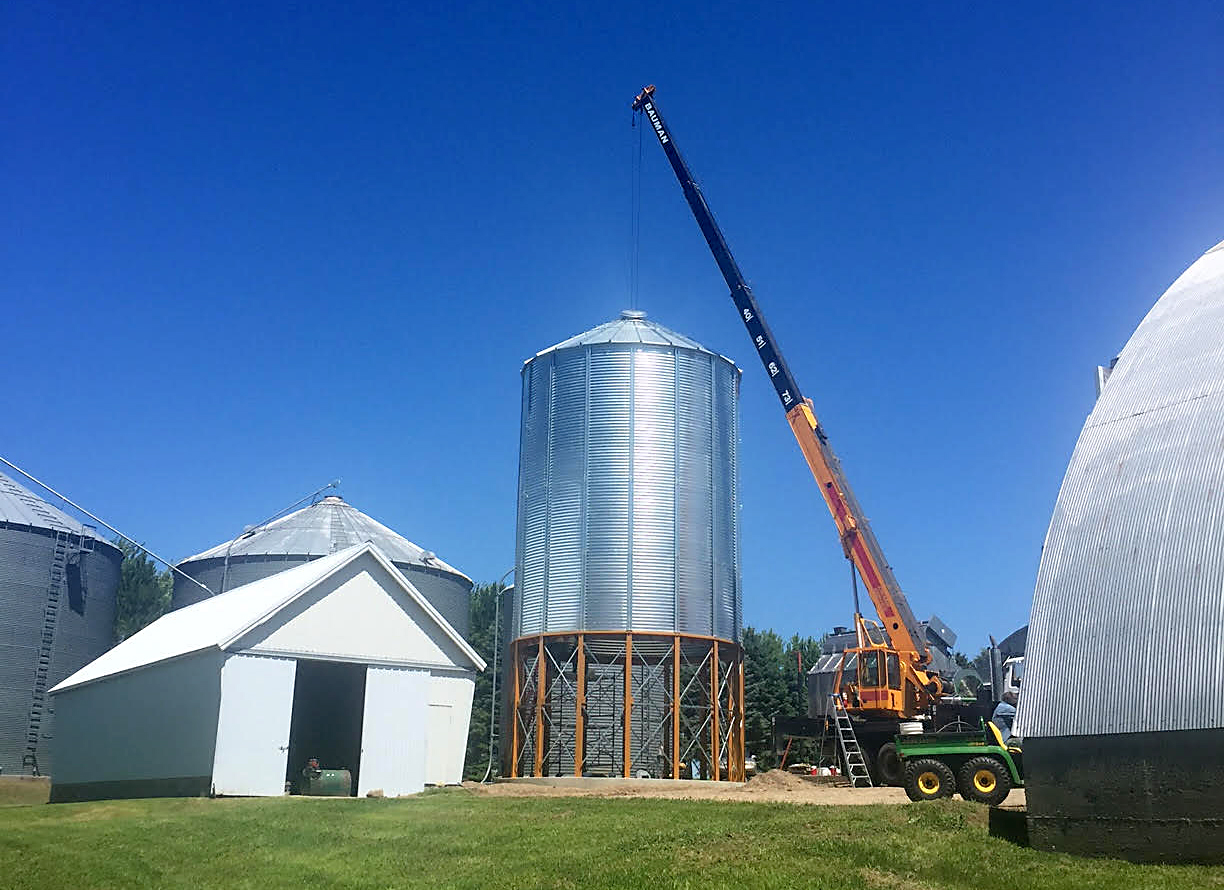 Grain Hopper Construction